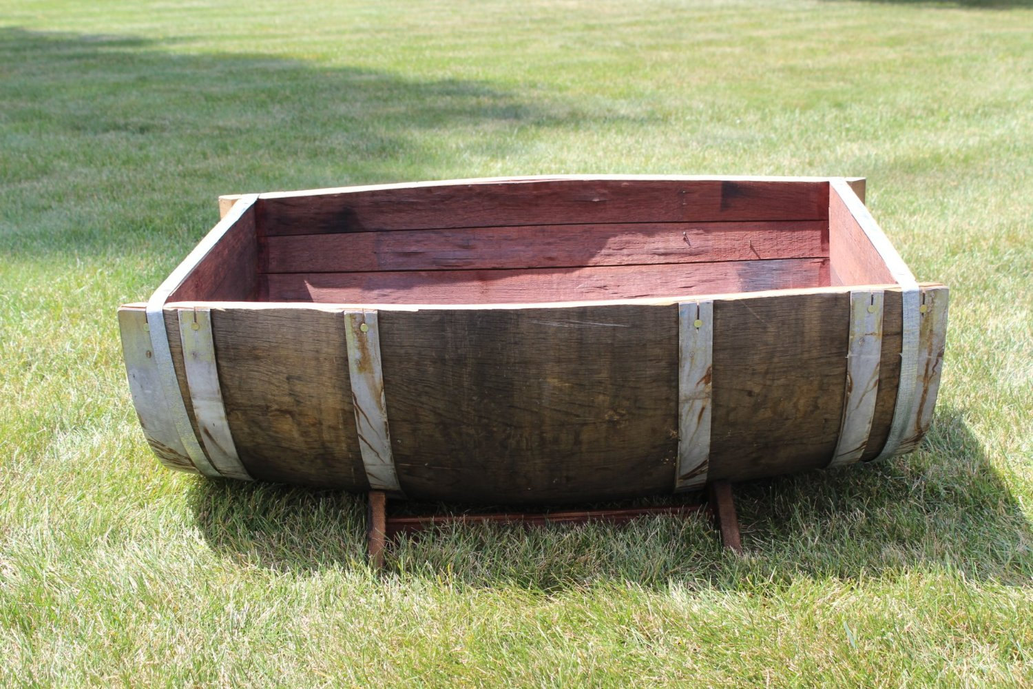 Wine Barrel Half Planter Buffalo Barrel Company